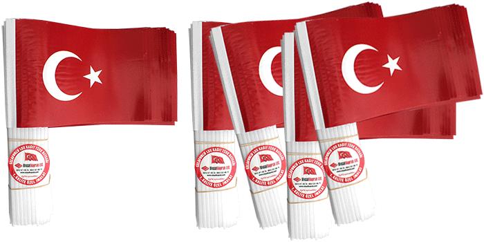 Plastik Sopalı Kağıt Türk Bayrağı Ölçüleri