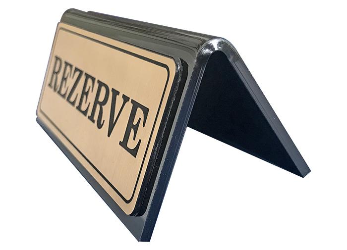R01 - Pleksiglass Masa Rezerve Yazıları